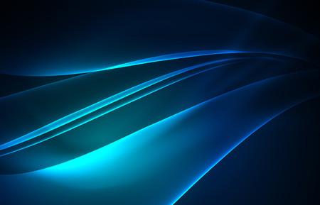 Vektor polar Lichter Konzept, glowig Formen in der Dunkelheit, abstrakten Hintergrund Standard-Bild - 82616332