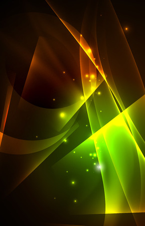 grid background: Vector polar lights concept, glowig shapes in the dark, abstract background