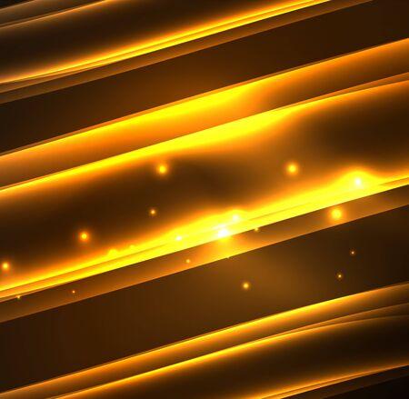 flowing water: Energy lines, glowing waves in the dark, vector abstract background