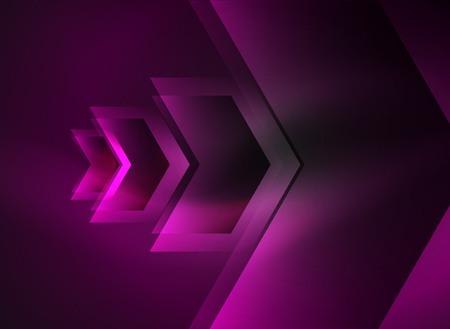 high speed internet: Digital technology glowing arrows Illustration