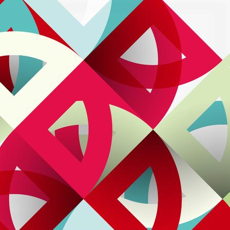 out of shape: Cut paper circles, mosaic mix geometric pattern design