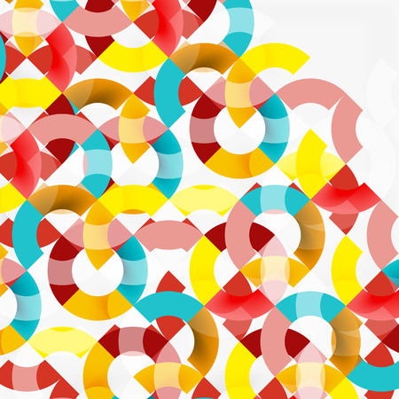 gray: Colorful rings on grey background, modern geometric pattern design. Vector business or technology presentation design template, brochure or flyer pattern, or geometric web banner