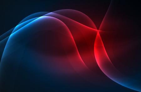 Smoky glowing waves in the dark