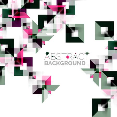 Modern square geometric pattern design on white