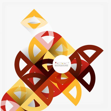 modern business: Cut paper circles, mosaic mix geometric pattern design. Business or technology presentation template, brochure or flyer layout, or geometric web banner