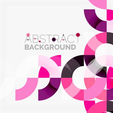 モダンな幾何学的な模様、灰色の背景にカラフルなリング。ビジネスや技術のプレゼンテーションのデザイン テンプレート、パンフレットやチラシ
