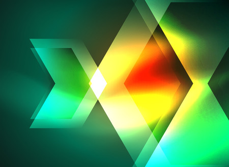 high speed internet: Digital technology glowing arrows, modern geometric abstract background with light effects and place for your message Illustration