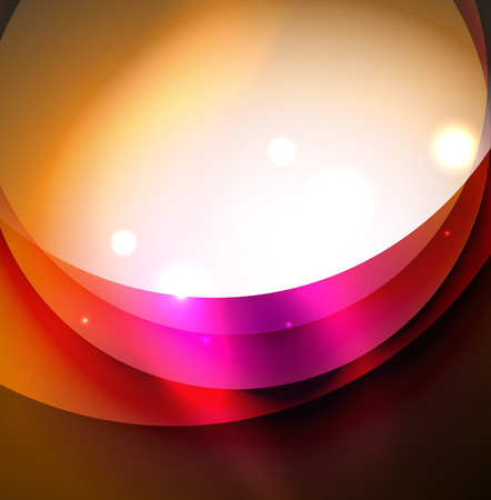Overlapping circles on glowing abstract background Illustration
