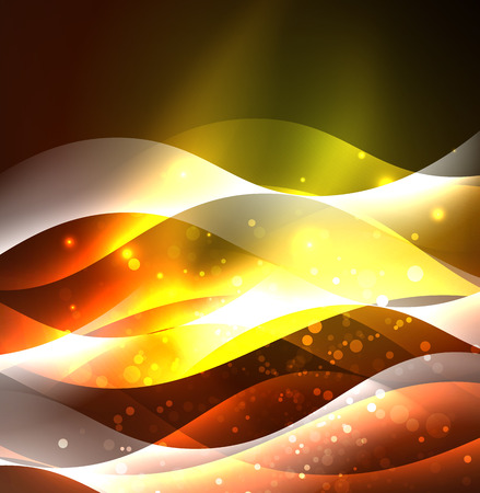 Vector abstract illuminated neon waves