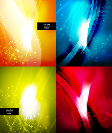 Set of shiny glittering abstract backgrounds