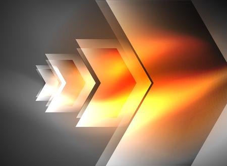 Digital technology glowing arrows Illustration