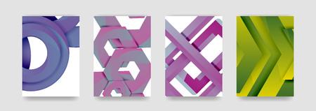 Minimal vector covers background set, geometric futurisrtic style.