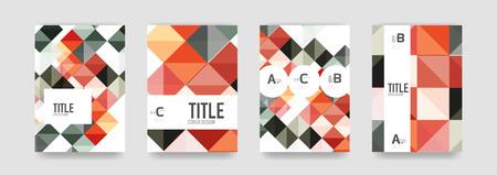 Set of brochure cover templates Illustration