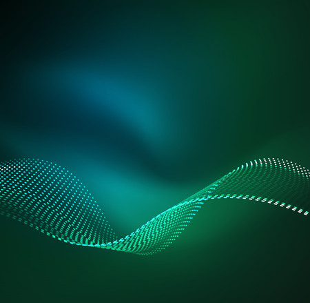 Vector wave particles background.