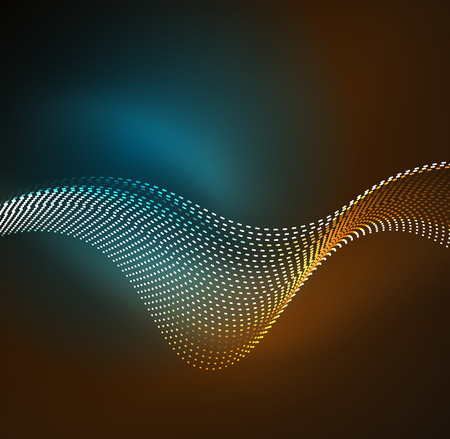 distortion: Vector wave particles background.