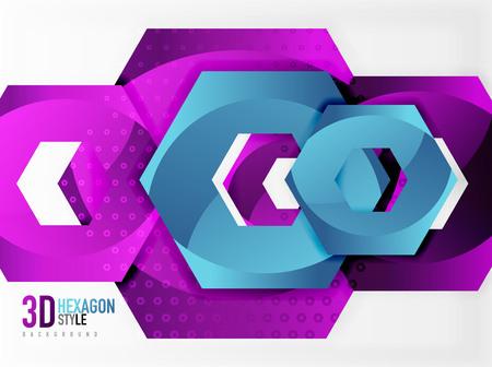 methane: Vector 3d effect hexagon background