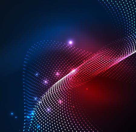 Vector Welle Teilchen Hintergrund Vektorgrafik