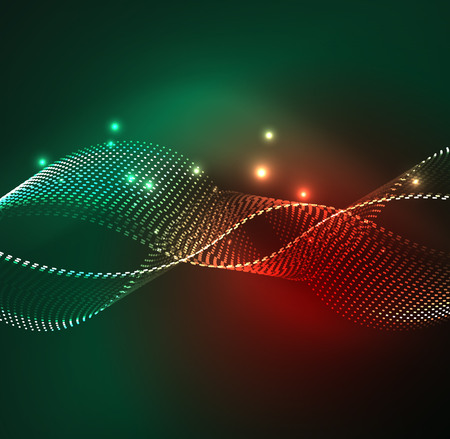 Vector wave particles background Vector Illustration