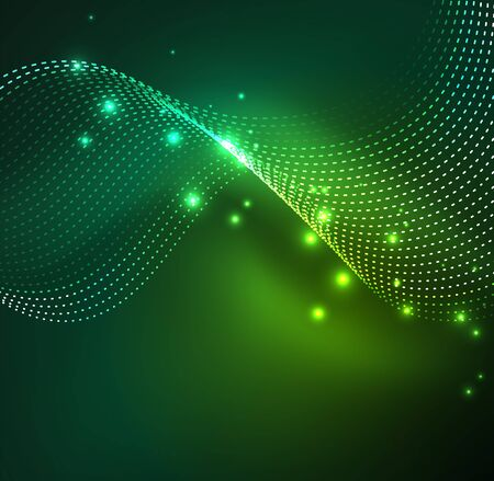 A Vector abstract digital illustration of wave particles background