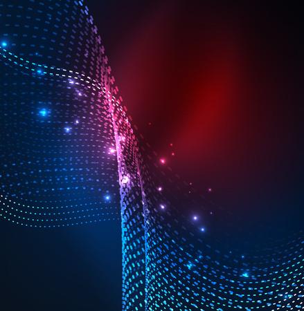 波の粒子のベクトルの背景