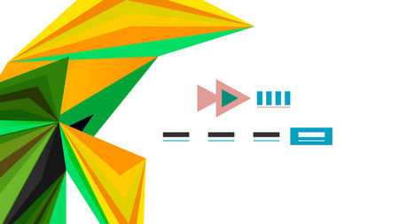 Modern triangle presentation template. Business design background, brochure or flyer concept or geometric web banner.