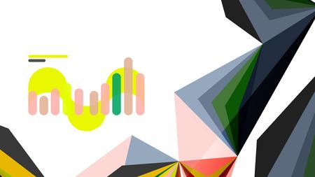 Modern triangle presentation template. Business design background, brochure or flyer concept or geometric web banner Illustration