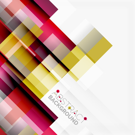 Abstract blocks template design background, simple geometric shapes on white, straight lines and rectangles