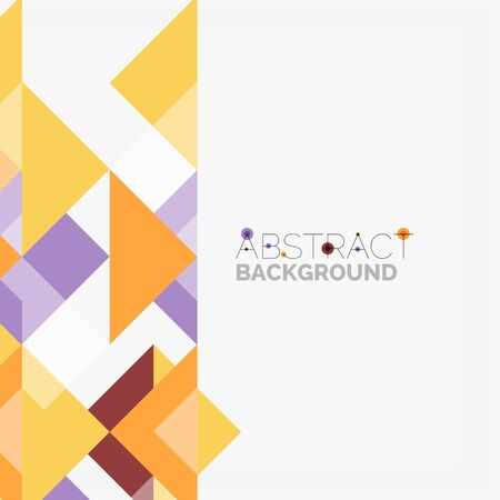 Colorful triangular continuous pattern design. Illustration