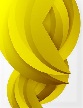 3D wave lines design.