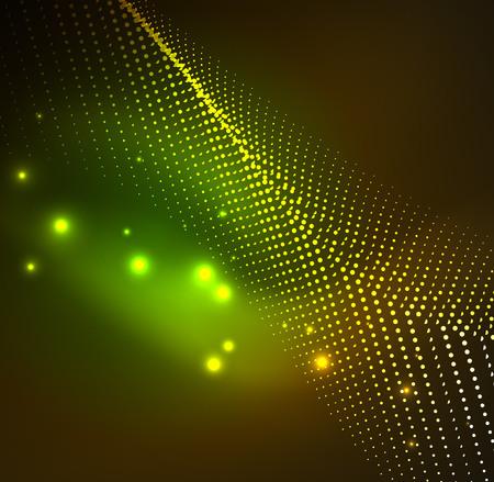 sinergia: 3D, iluminado, onda, abrasador, partículas Vectores