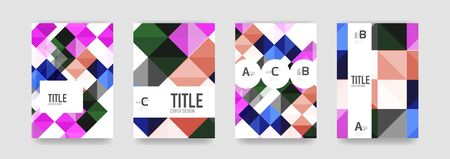 Set of vector brochure cover templates Illustration