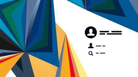 Modern triangle presentation template. Business design background, brochure or flyer concept or geometric web banner Ilustrace