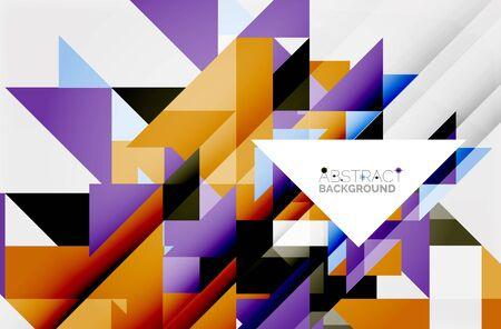 website header: Triangle pattern design background. Vector business or technology presentation template, brochure or flyer pattern, or geometric web banner