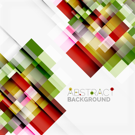 Abstract blocks template design, simple geometric shapes on white, straight lines and rectangles