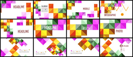chaos: Modern geometric presentation background. Business concept or digital technology element, brochure or flyer design for web banner layouts