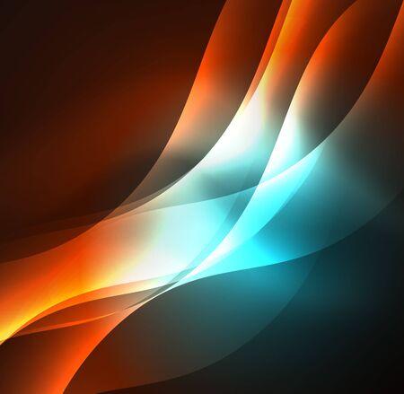 Abstract illuminated neon waves.