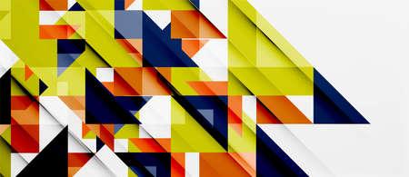website header: Triangle pattern design Illustration