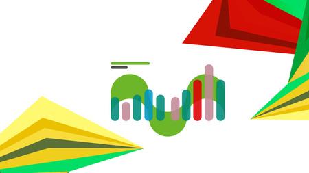 Modern triangle presentation template
