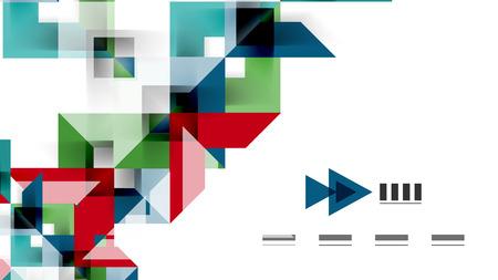 Business presentation geometric template. Illustration