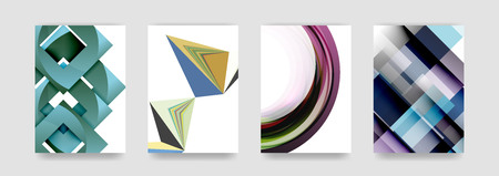 Minimal vector covers background set, geometric futurisrtic style