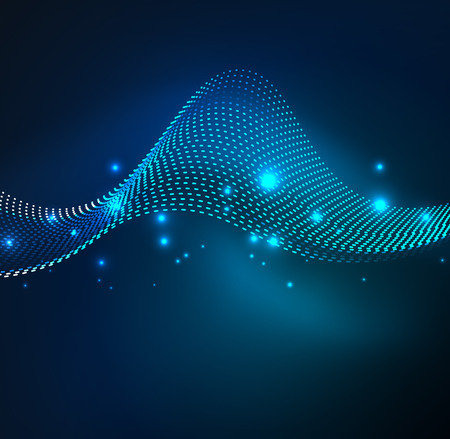 3d wave particle illustration.