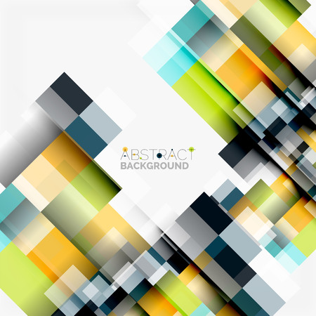 Abstract blocks template design. Illustration