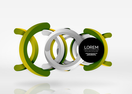 Modern 3d ring abstract.