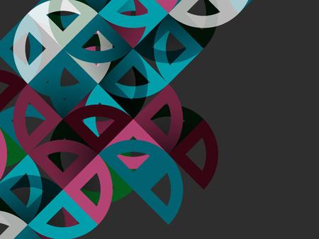 Mosaic mix geometric pattern design. Illustration