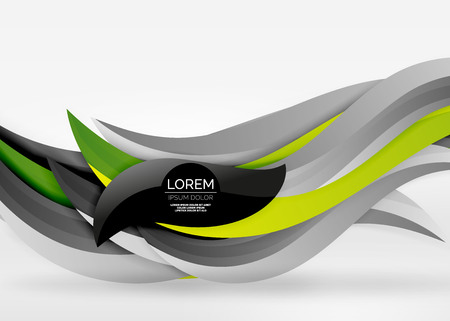 Vector colorful wave lines in white and grey 3d space. Abstract background for your message.