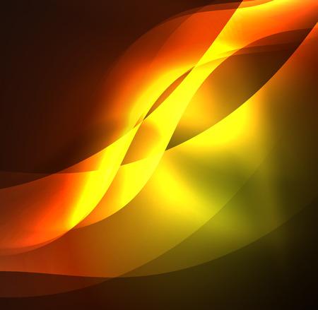 Illuminated neon waves