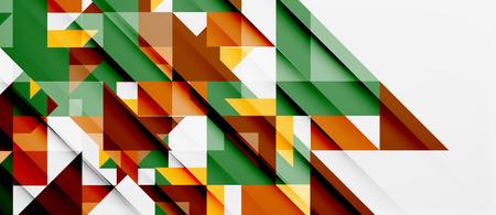 tile pattern: Triangle pattern design background Illustration