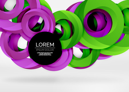 Modern 3d ring vector abstract background