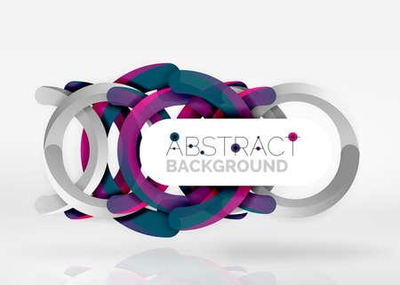 Modern 3d ring vector abstract background vector illustration. Illustration