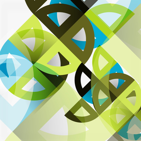 Cut paper circles, mosaic mix geometric pattern design.